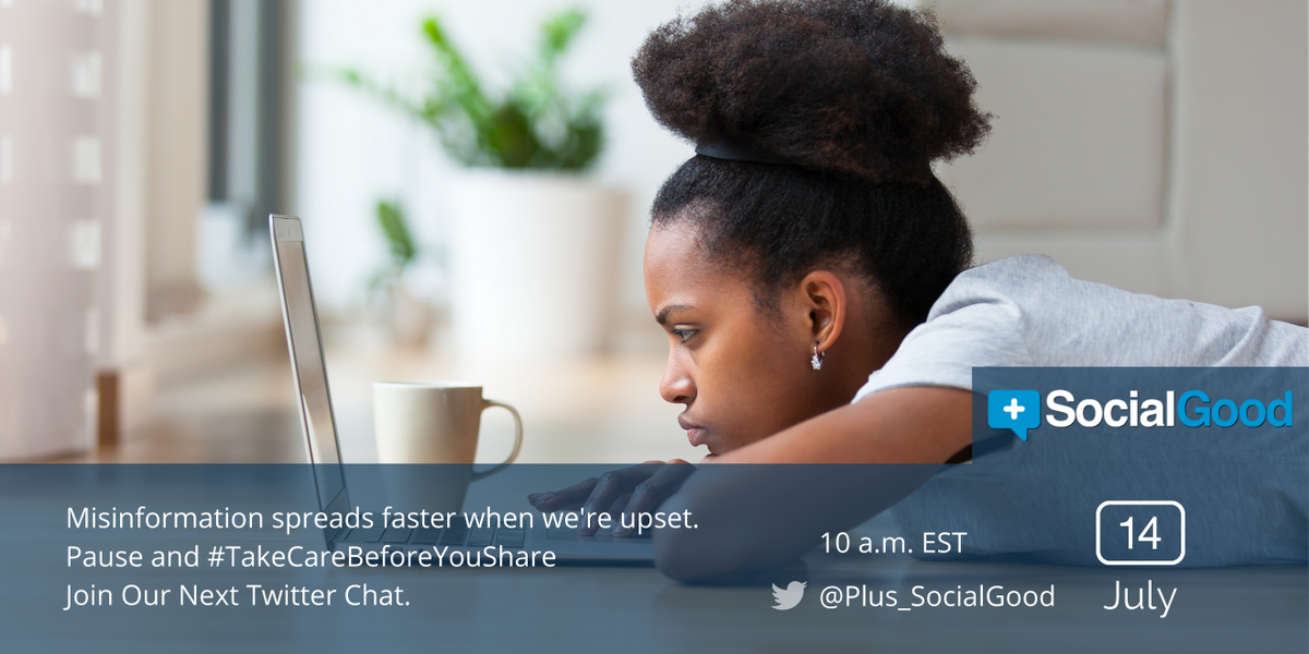 #Misinformation has the potential to create panic and fear. Join us to explore ways through which this emerging challenge can be solved during our #TakeCareBeforeYouShare twitter chat on July 14 at 10am ET