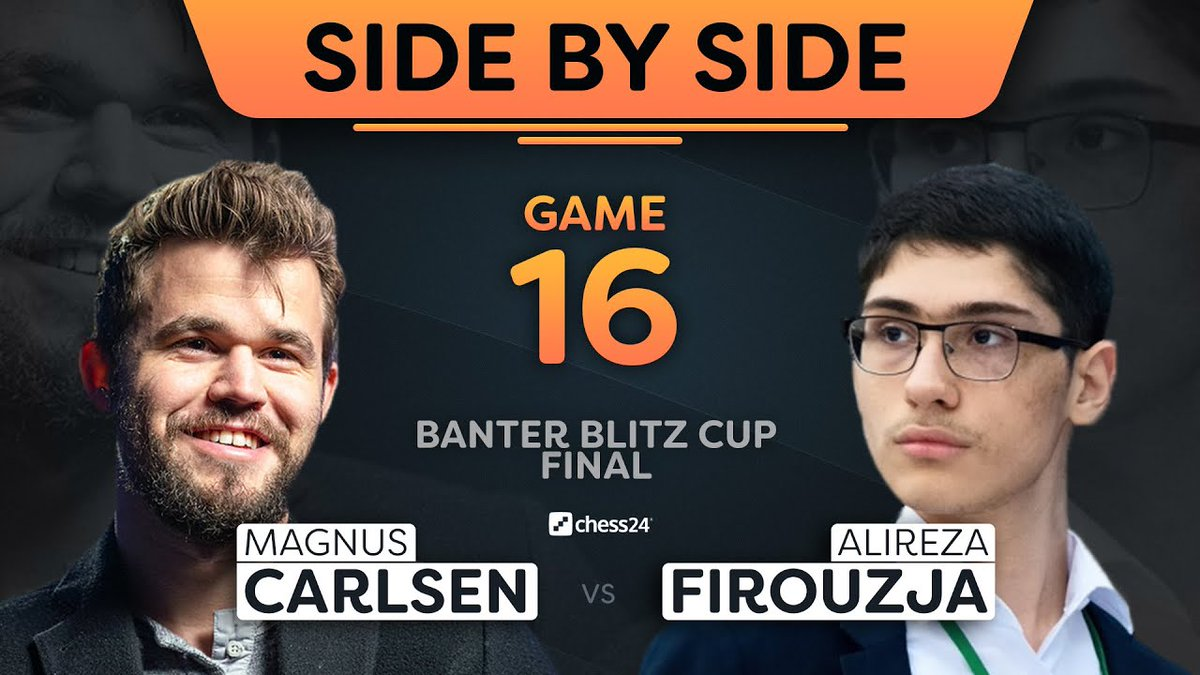 test Twitter Media - Relive all 16 games of the epic Carlsen vs. Firouzja Banter Blitz Cup Final with the players' commentary combined into single videos for each game!  https://t.co/A4MewkDoTj  #c24live https://t.co/rJxjpuwmmg