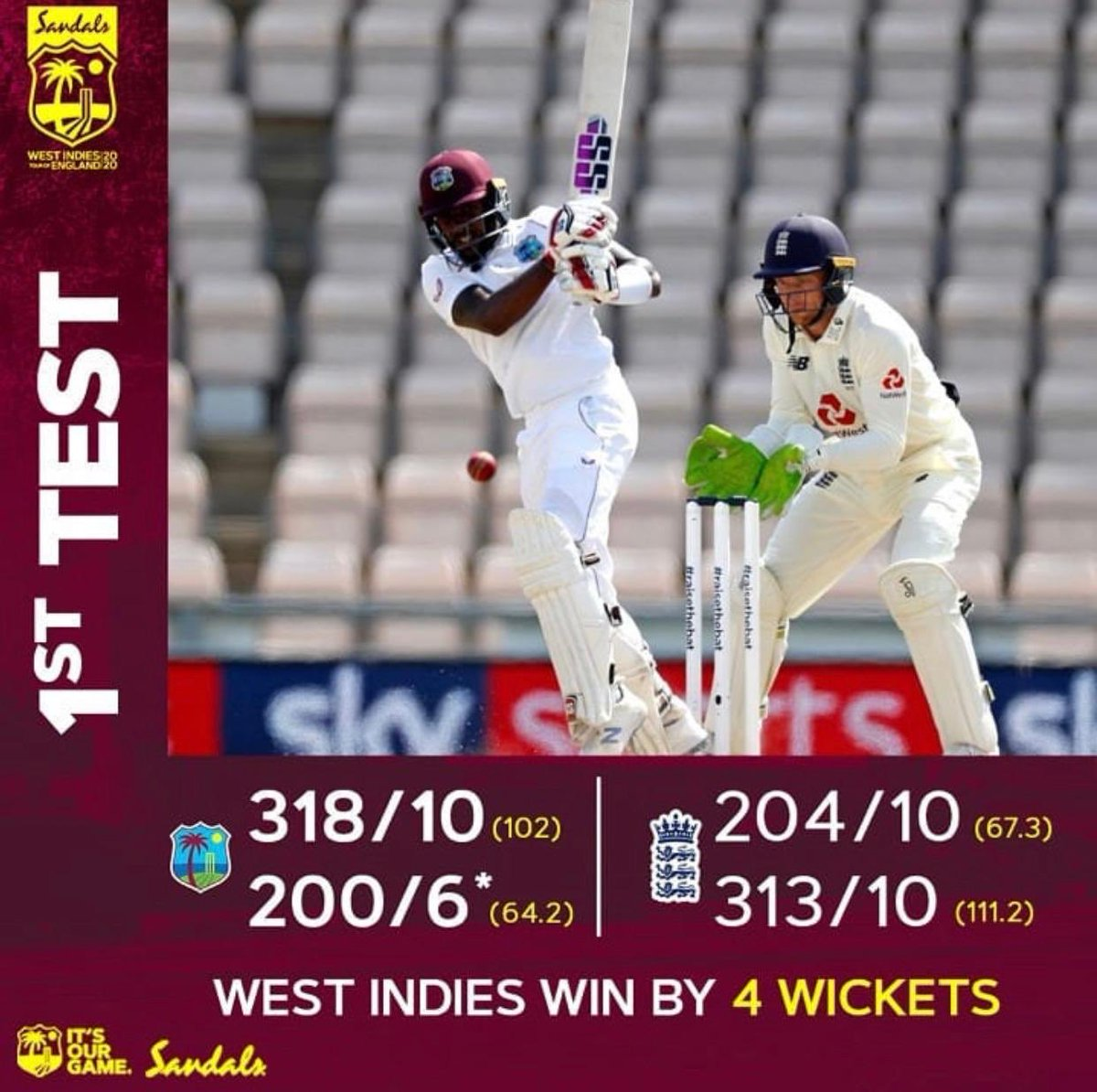 Congratulations !! Well done to the entire team Captain Jason Holder and coach Phil Simmons