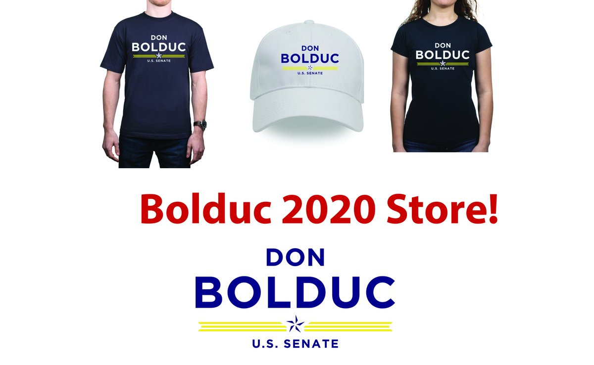 Have you seen our official Bolduc 2020 store?  Show your support with: t-shirts, mugs, bumper stickers, buttons, and hats!    #nhpolitics #nhsen