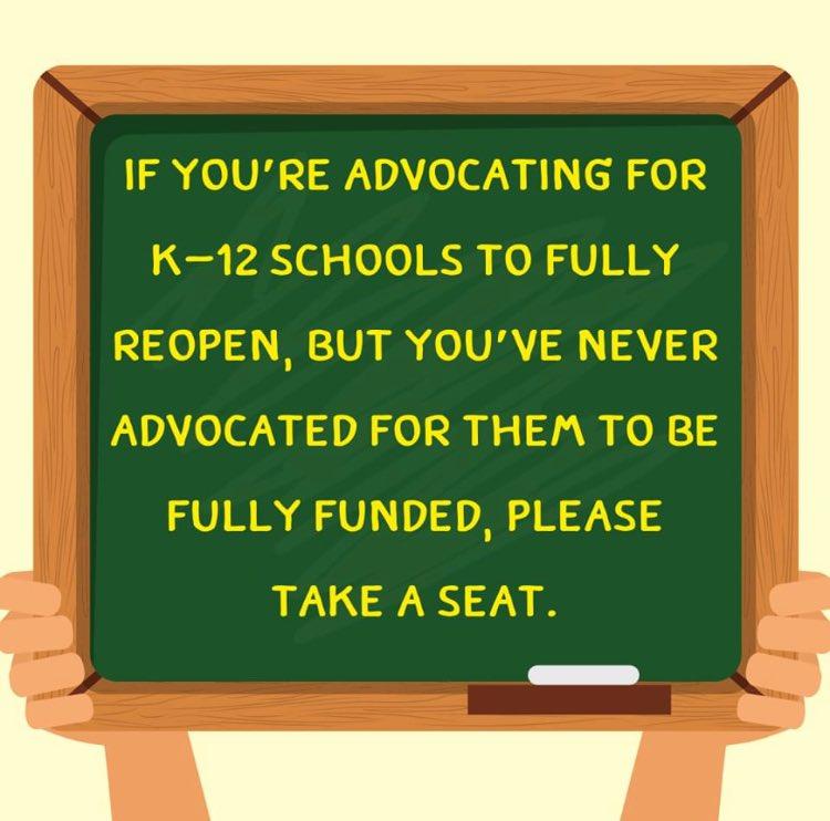 Just sayin.    #SchoolReopening