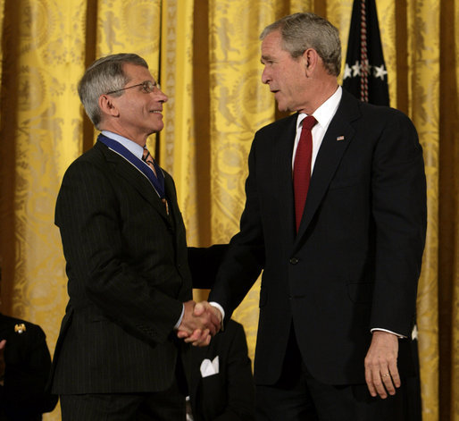 Dr. Fauci receives Presidential Medal of Freedom, 2008:  #NARA