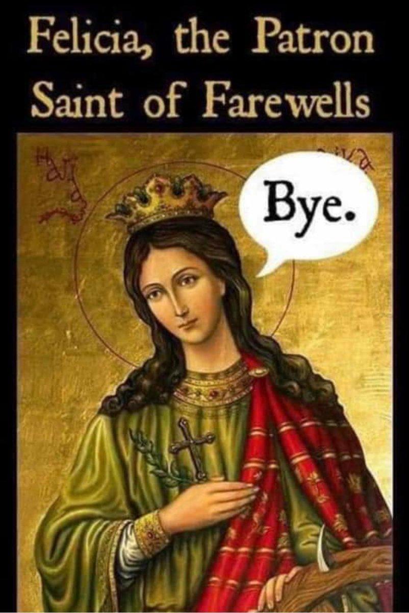 "🤣🤣🤣 And the Lord sayeth unto Felicia, ""Bye."" 🤣🤣🤣"