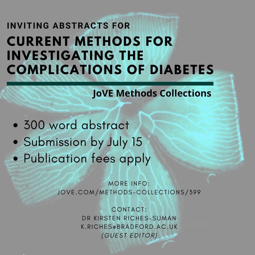 test Twitter Media - Just 2 days left to submit your abstracts for our @JoVEJournal issue on diabetes complications - we're excited to see your techniques! https://t.co/tBQQmKqoJE please RT #science #diabetes #research #cardiovascular #woundhealing #nephropathy #neuropathy https://t.co/CjbfukRMmG