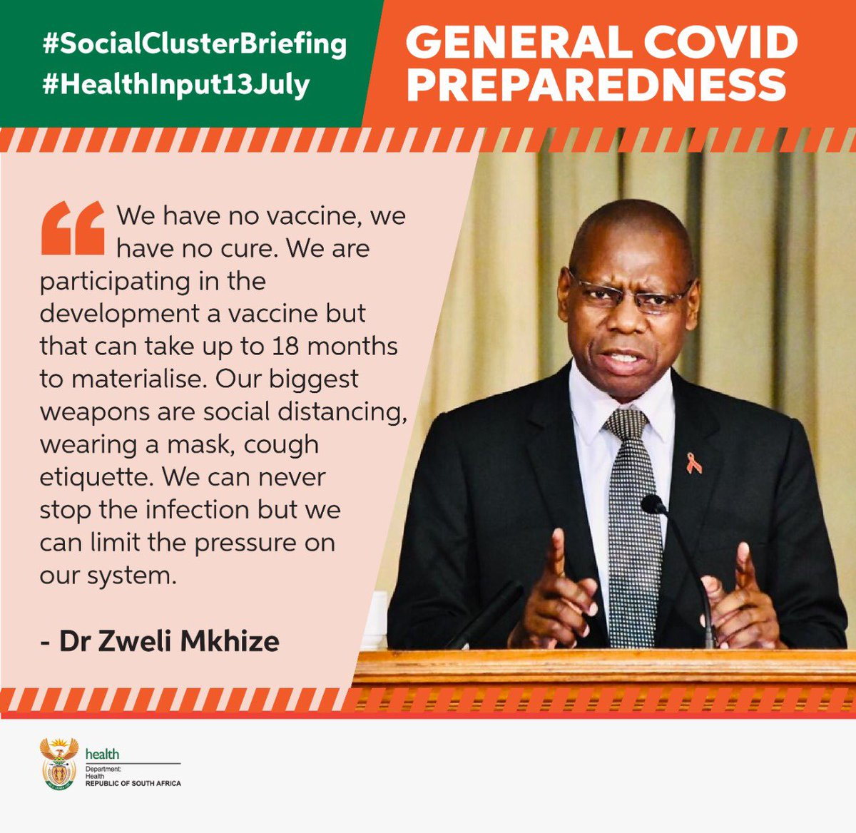 #SocialClusterBriefing #HealthInput13July #NewNormal