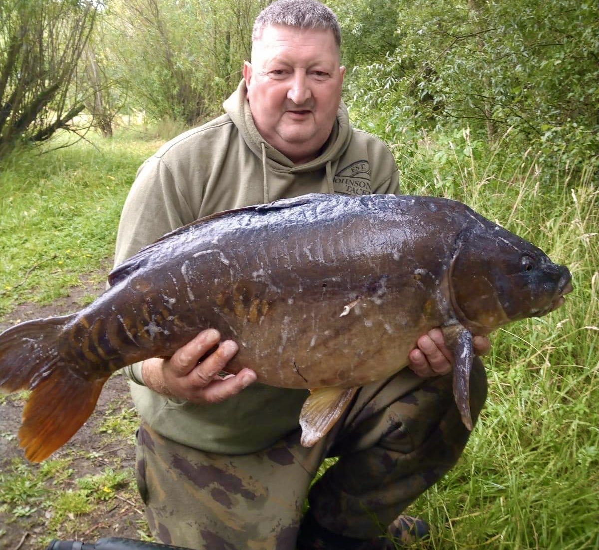 New member Ashley with his first #carp from @stgeorgeslake 29lb 2oz #carpfishing #<b>Bigcarp</b> #ca
