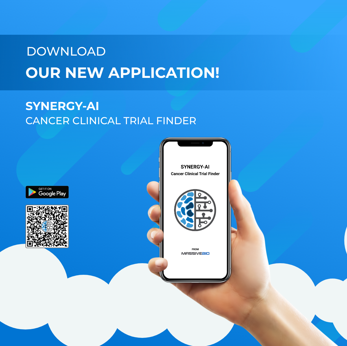 Download our new app! The Synergy-AI Cancer Clinical Trial Finder matches patients with #clinicaltrials and pre-screens them instantly. #Cancercare #Trials #AI  Download here: