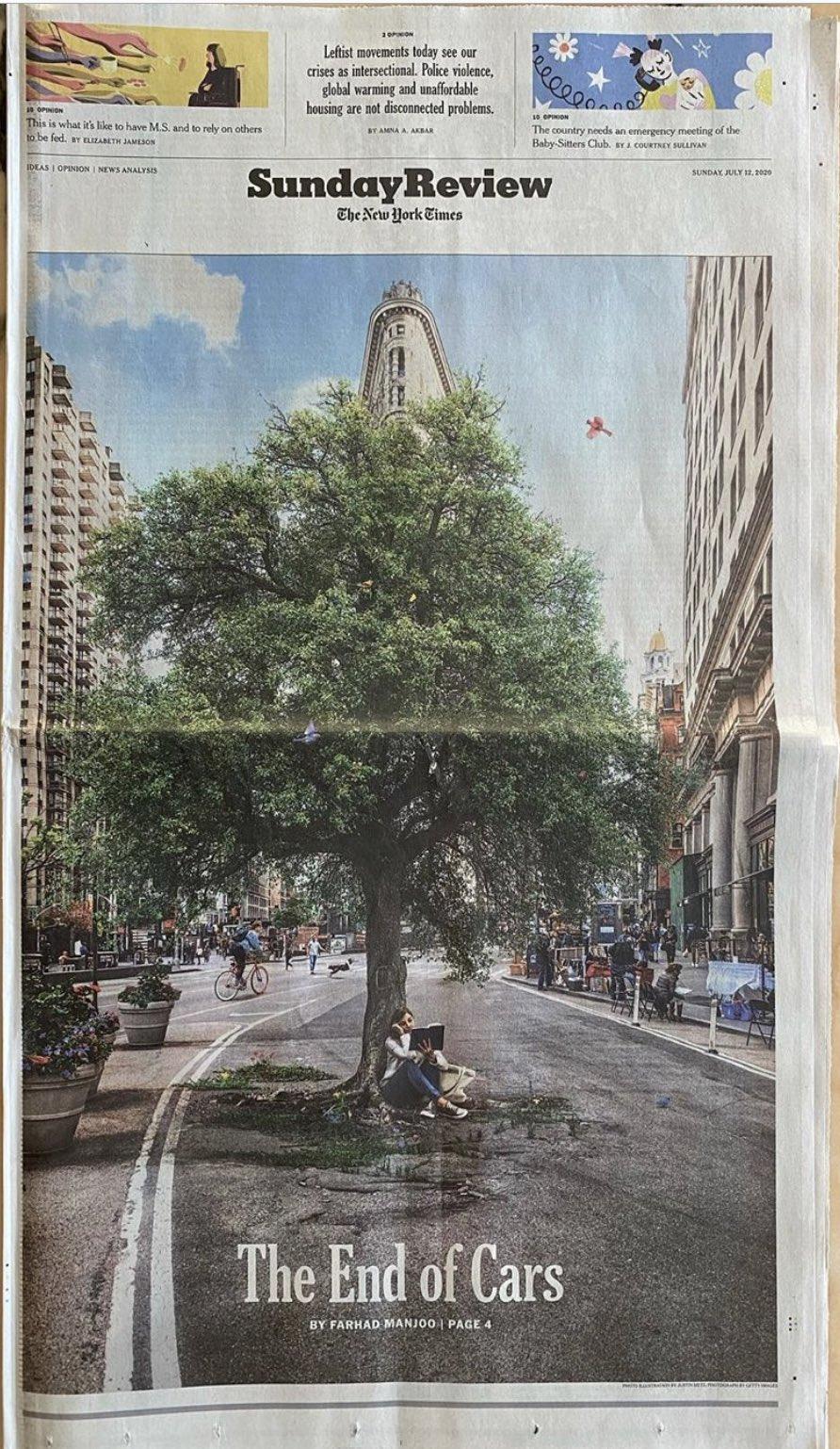 Hemos visto el futuro de las #ciudades sin #Carros y es increíble 🌟🌟🌟🌟🌟👍🏻@nytimes  #ODS11 #NuevaAgendaUrbana https://t.co/g3IuqHBypg