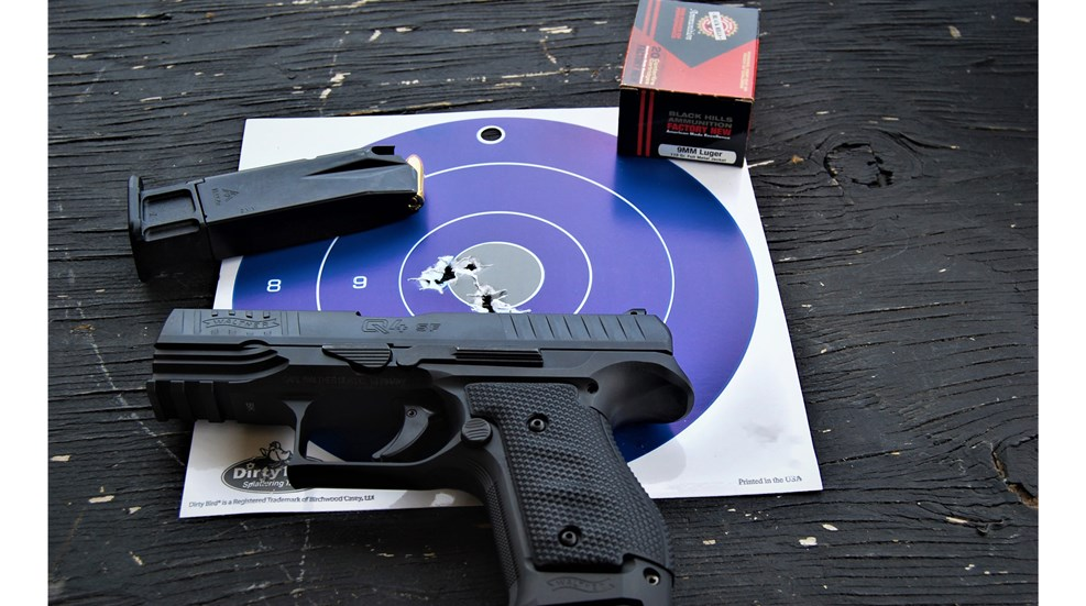 Home defense? Every day carry? Target shooting? Check out the hearty @WaltherFirearms Q4 Steel Framed 9 mm pistol that can do it all!