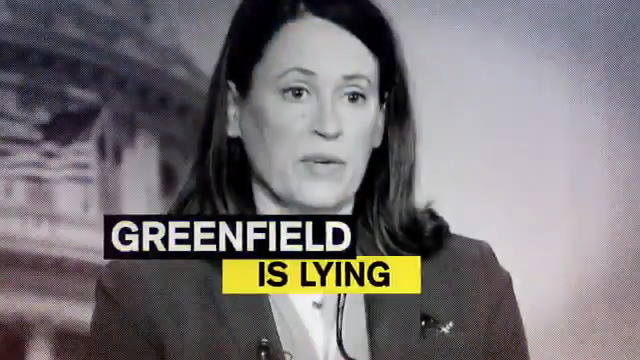 NEW AD: @TeamJoni is out with a new television ad exposing Des Moines real estate executive @GreenfieldIowa's blatant lies over special interest money. What else is she lying about? #IASen #IAPolitics
