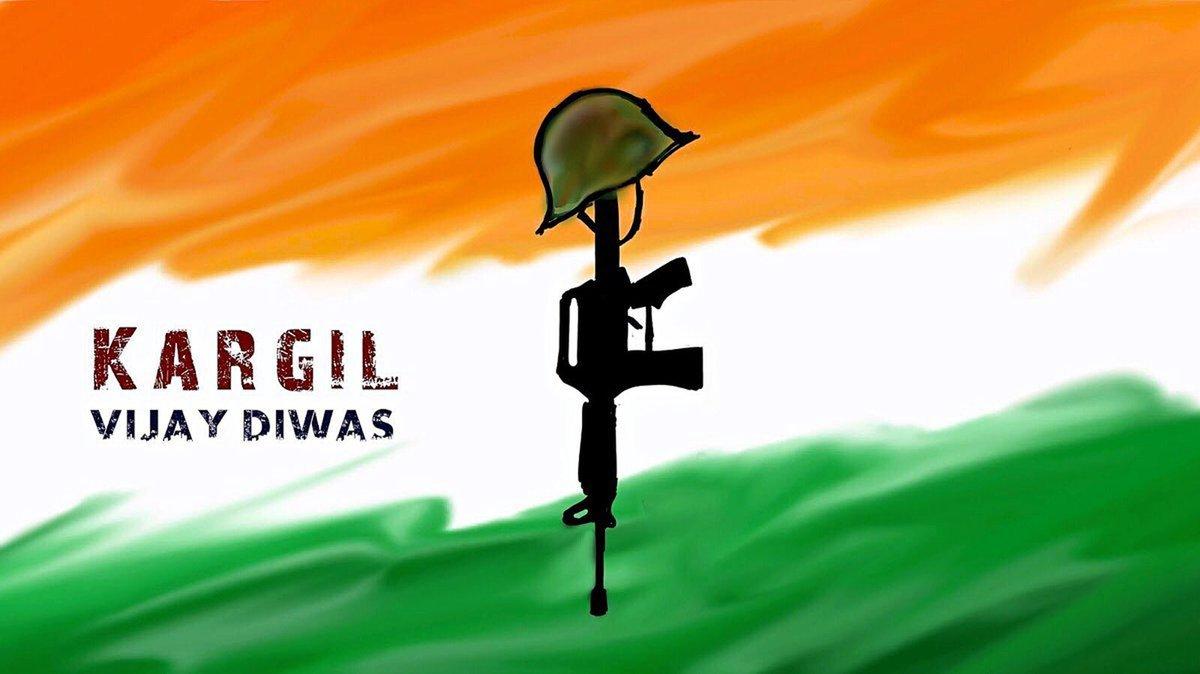 कारगिल विजय दिवस पर, मैं उन बहादुर नायकों को सलाम करता हूं जो सब कुछ समर्पित करके भारत की रक्षा करते हैं।   जय हिंद  #KargilVijayDiwas
