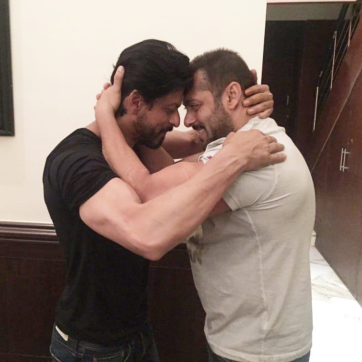 This picture of #ShahRukhKhan and #SalmanKhan will always remain special.