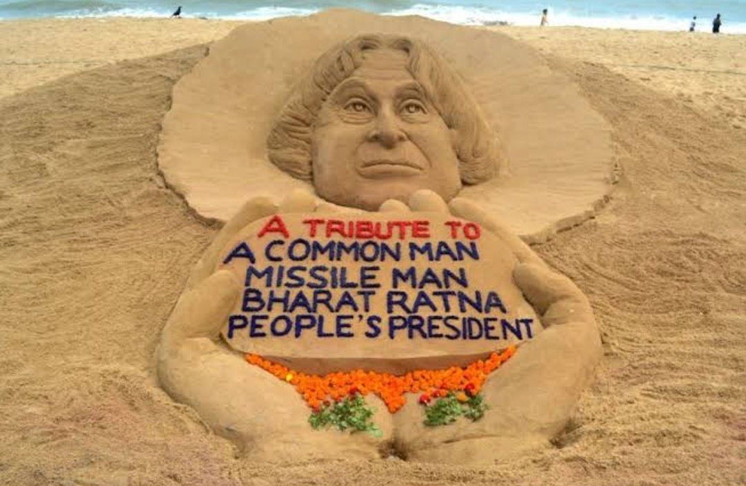 """""""Dream is not that which you see while sleeping , it's something that does not let you sleep"""". Remembering the greatest President of India. #MissileManKalam  #deathanniversary"""