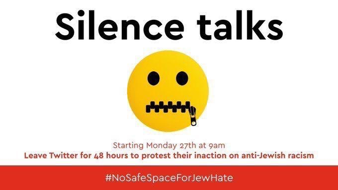It's been an exciting morning and we have more announcements and details planned, but we'll be taking a break for the next 48 hours in Solidarity with #NoSpaceForJewHate, due to Twitter and Instagram's failure to take action against anti-semitic posts over the weekend.