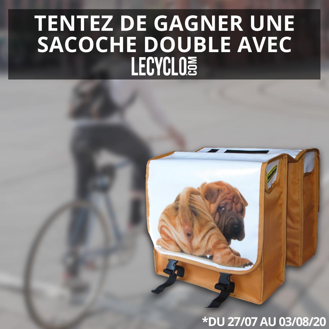 [#JeuConcours] 🐕 À gagner cette sacoche vraiment vraiment originale de près de 13 litres pour vos sorties à #vélo ! 💬 Pour participer, follow + RT ce tweet 🍀 #Concours jusqu'au 03/08/2020. Tirage au sort le 04/08/2020.