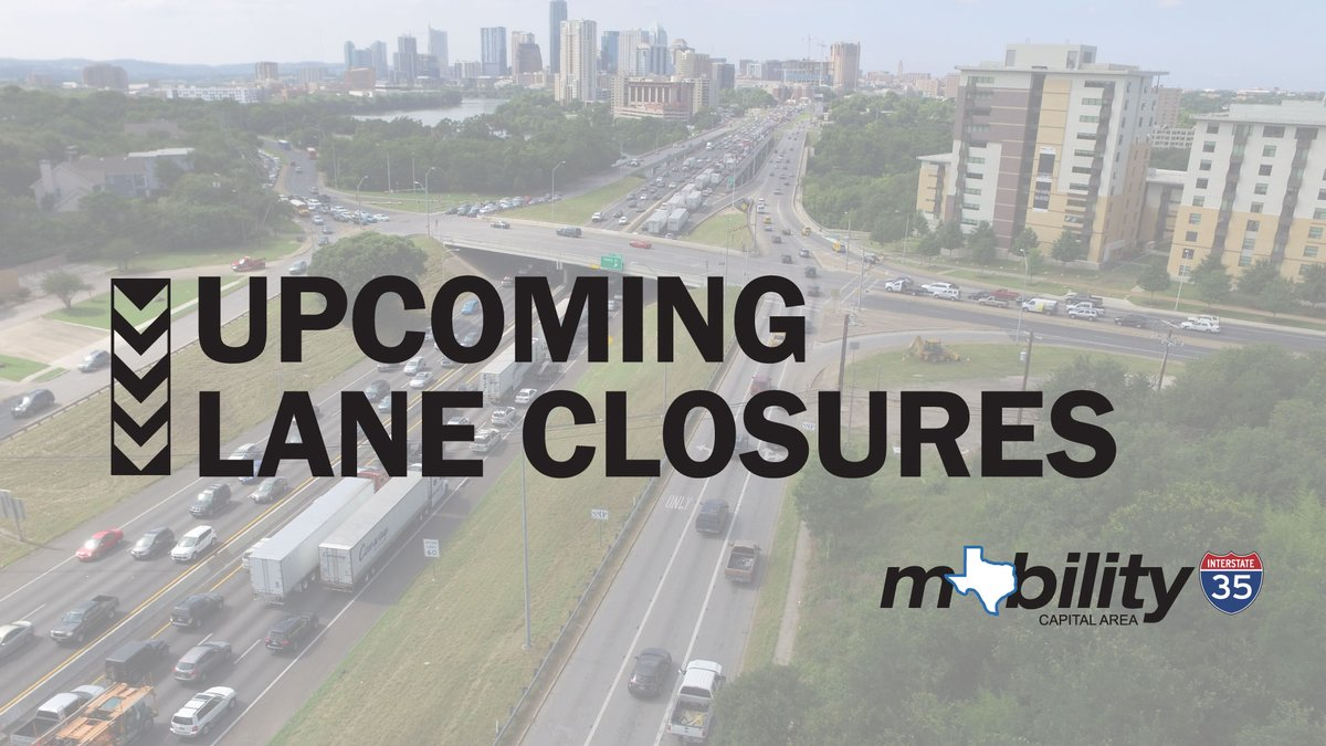 TRAFFIC ALERT: #My35 lane closures 7/25-7/31 include I-35 mainlane closures at Northwest Boulevard, Rundberg Lane and US 290 East. Click here for a full closure list:  #ATXtraffic