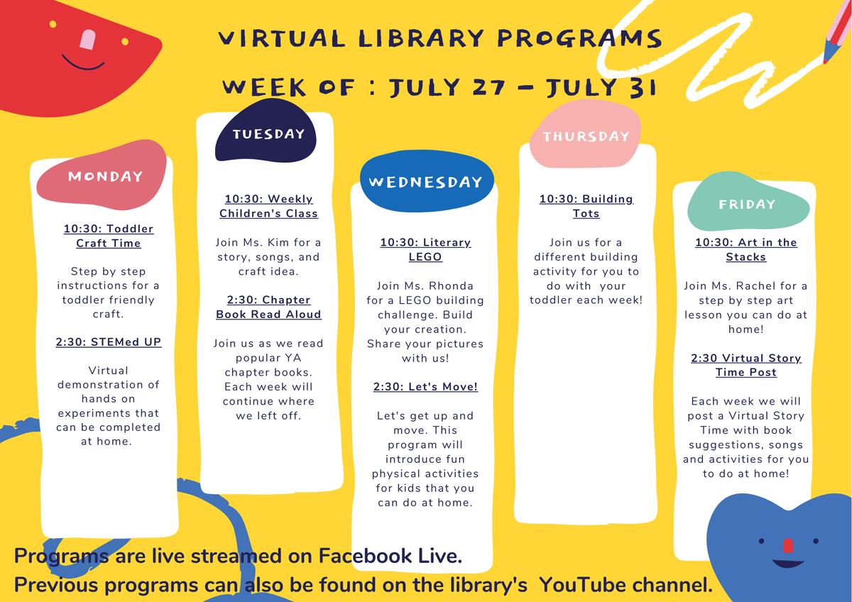 Which virtual program is your favorite?  #CCLsummer2020 #CCLVirtualPrograms