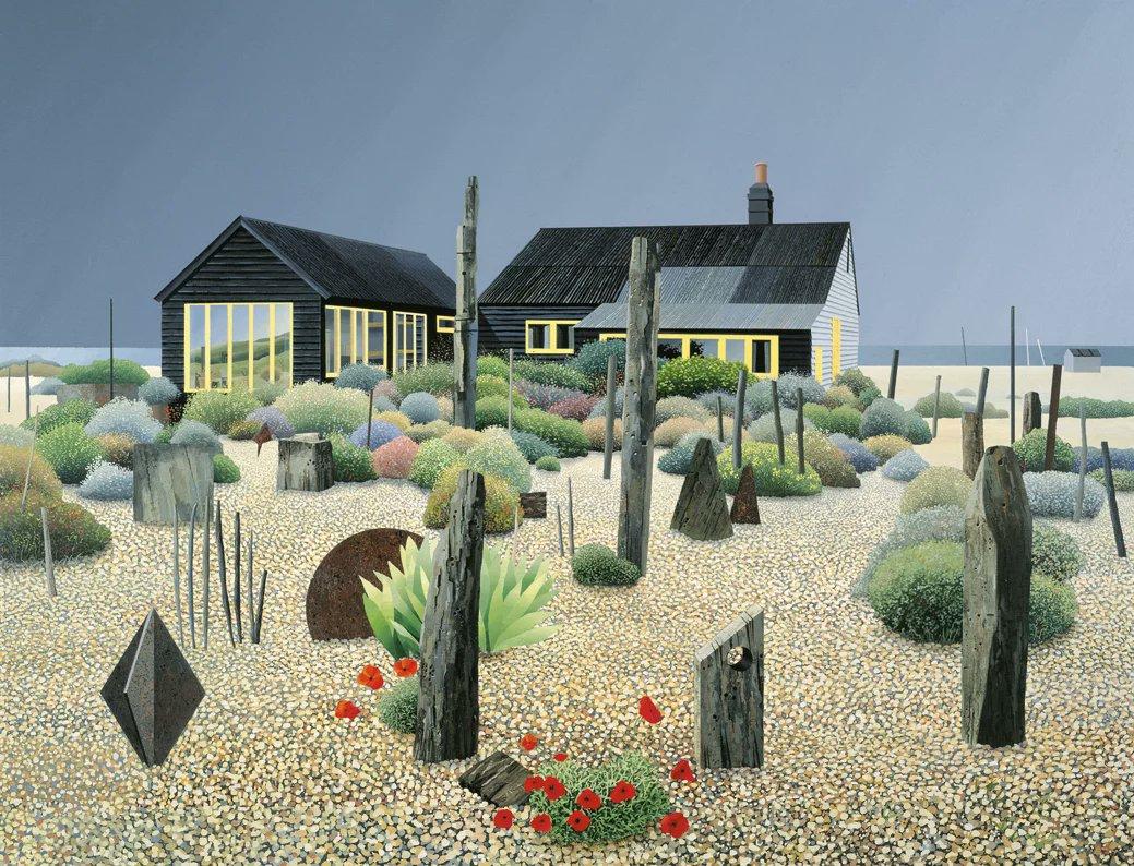 'Derek Jarman's Garden', Michael Kidd, acrylic on canvas. https://t.co/5AF1cPe2UA