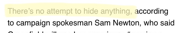 """""""There's no attempt to hide anything,"""" says campaign that deleted the candidate's business record from their website. #IASen #IApolitics"""