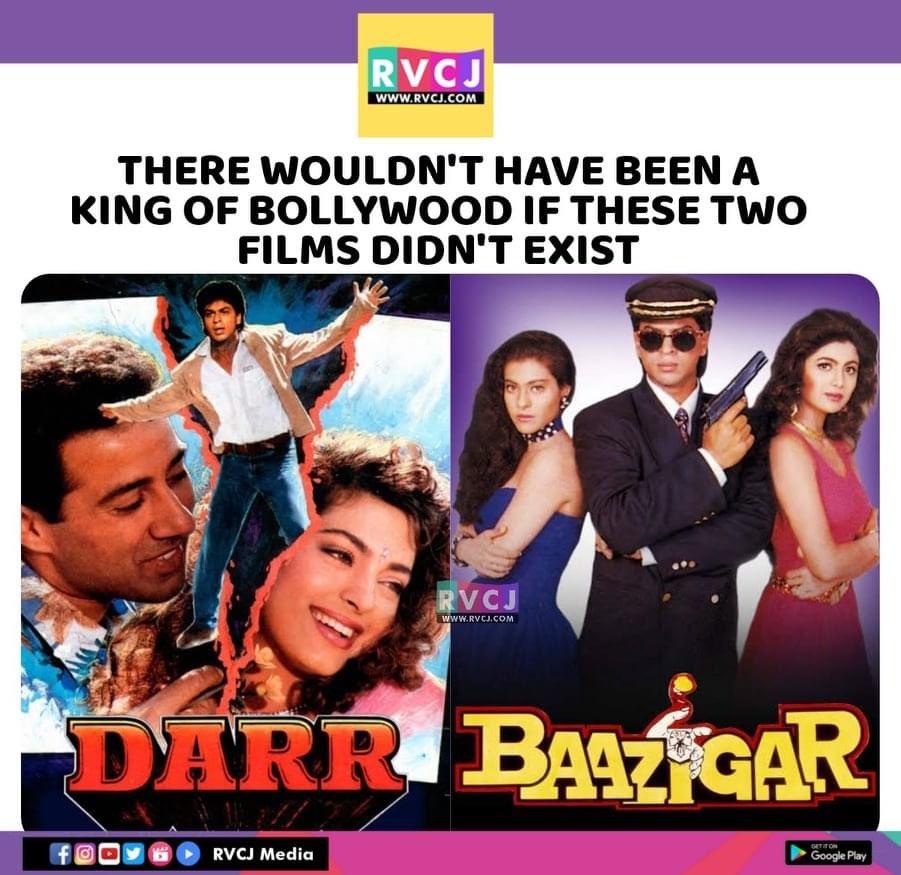 Game Changers 🔥 @iamsrk  #ShahRukhKhan #SRK #Darr #Baazigar #Bollywood #rvcjmovies