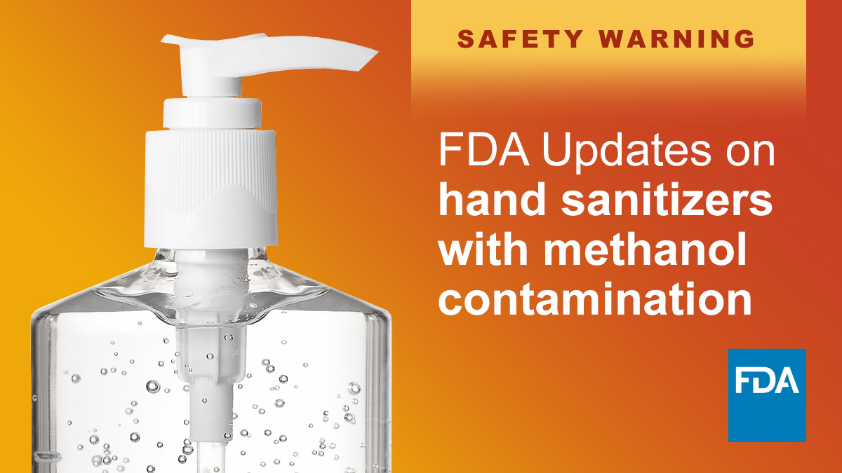 Today, we continue to warn consumers and HCPs about dangerous alcohol-based hand sanitizers containing methanol (wood alcohol) and taking additional action to address concerning products: