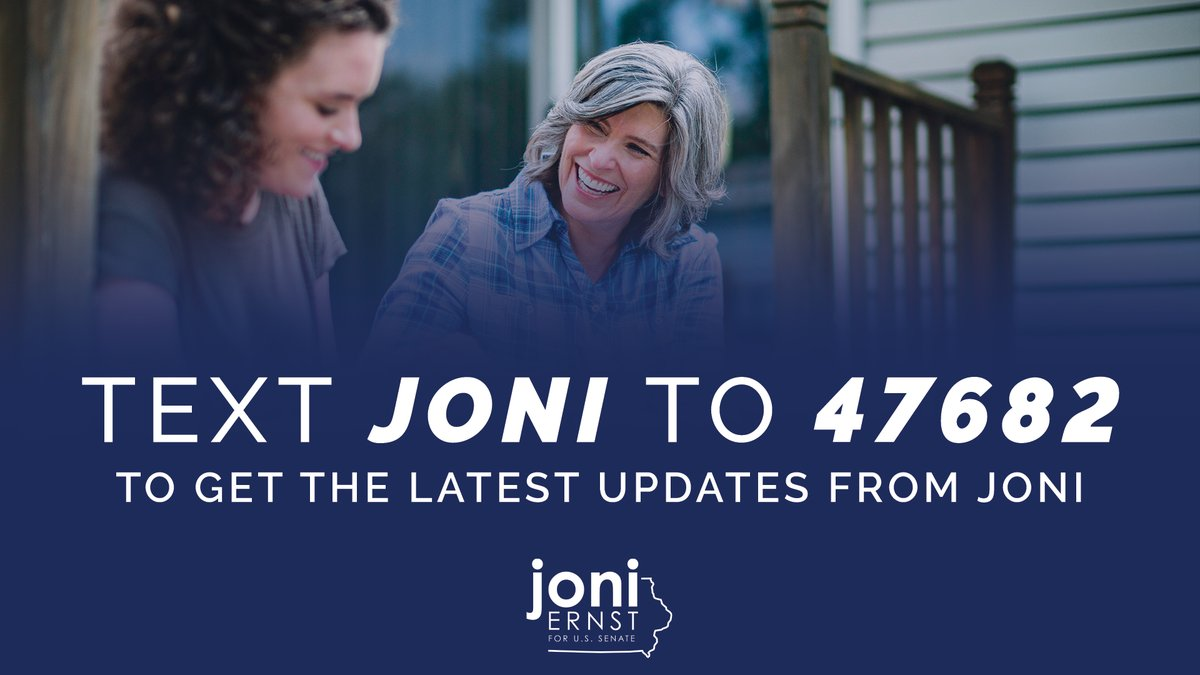 Want to be the first to get important updates from our Team? It's easier than ever. Just text JONI to 47682 to join our list of top supporters.