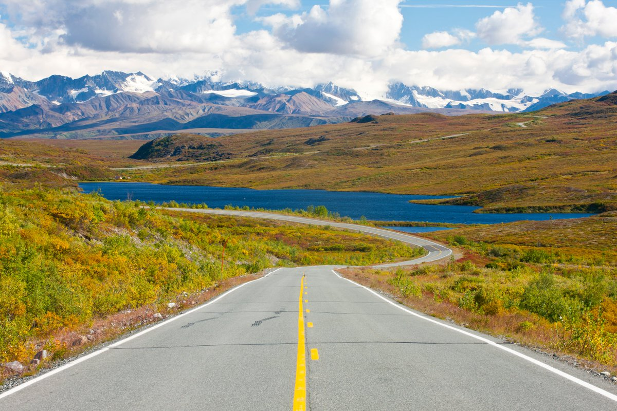 @seldonink @TravelAlaska A9 The Denali Hwy is open from mid-May to around start of Oct. It's about 15% paved so slow travel is advised. Great scenery, off-road vehicle and mountain biking trails, fishing, hunting, good bird watching and amazing geography make this road trip exceptional. #TravelAlaskaChat