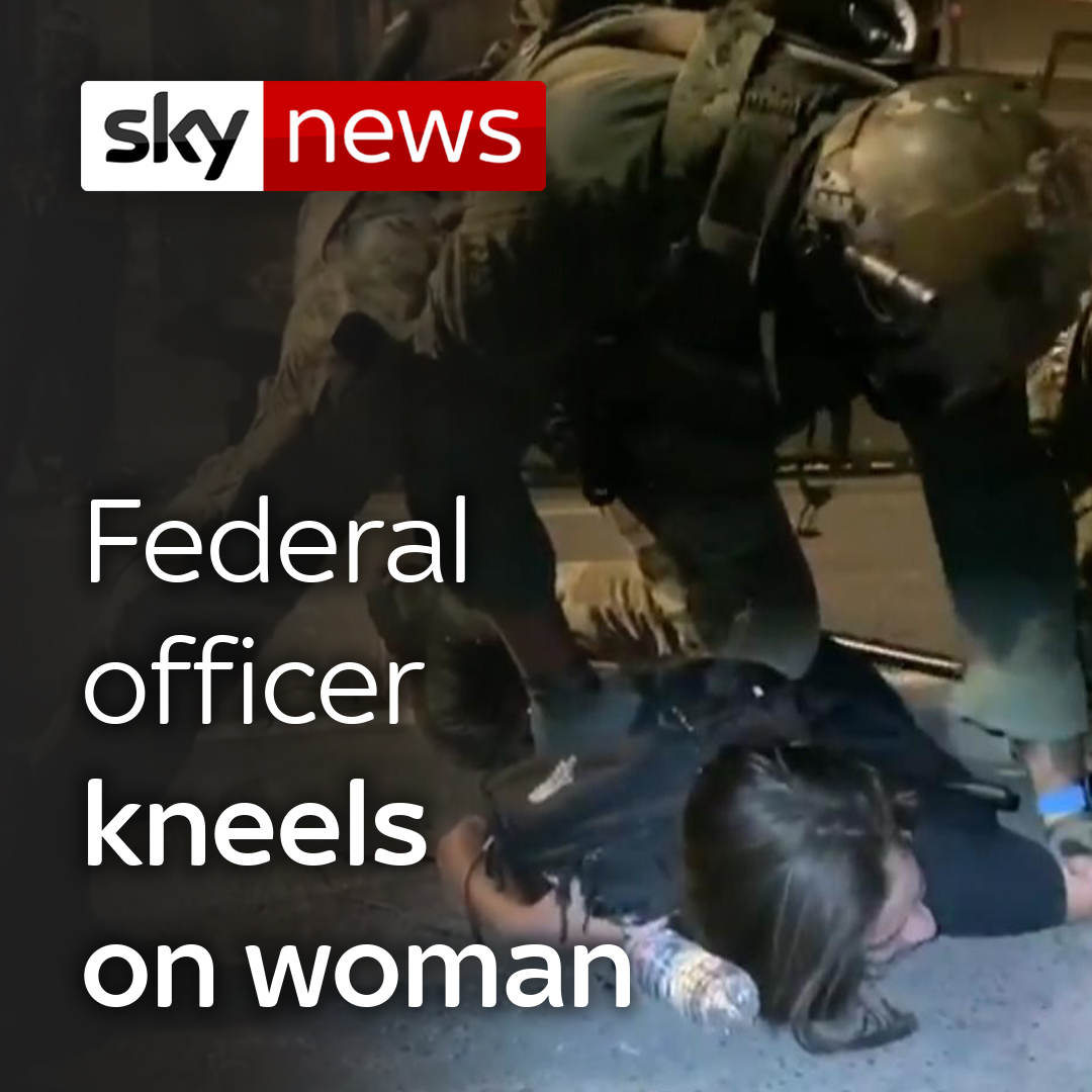 'I can't breathe.'  Federal agents restrained a woman and knelt on her back while detaining her during a protest in Portland, Oregon.  Read more: