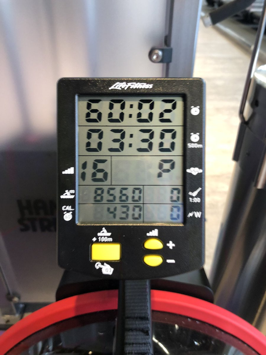 test ツイッターメディア - 休日のワークアウト💪😎 今回もプルダウン33k×10回を6セット、GXローを60分、トレッドミル(ランニング)時速8キロを40分完了! #エニタイムフィットネス #ワークアウト #プルダウン #GXロー #トレッドミル #有酸素運動 #ランニング #ランナーズハイ https://t.co/hzvOEIXMTm