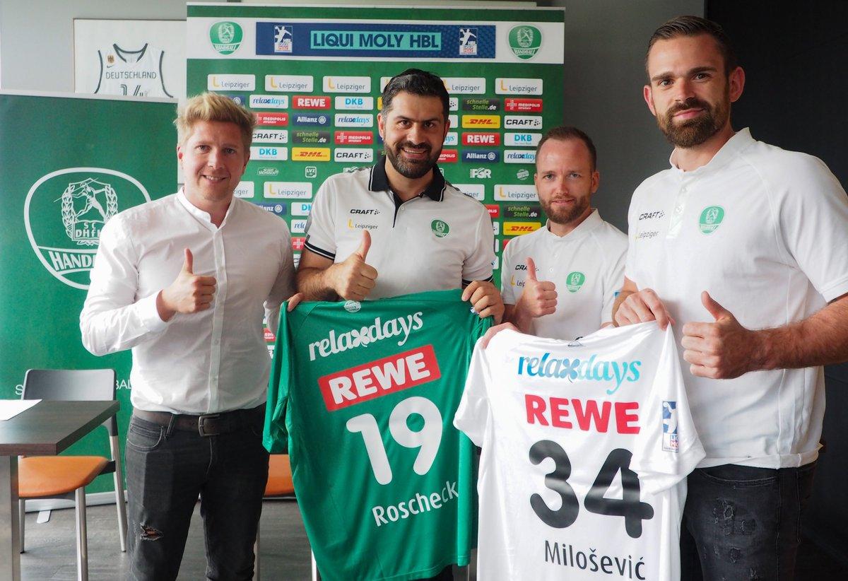Was für ein bedeutungsvolles Zeichen zur genau richtigen Zeit! Inmitten der Corona-Nachwehen haben die Handballer des SC DHfK Leipzig mit https://t.co/EktAjeealo einen neuen Trikotsponsor gefunden! 💚🙏 ℹ https://t.co/dAf36jpcgL https://t.co/MdEkhVfmNv