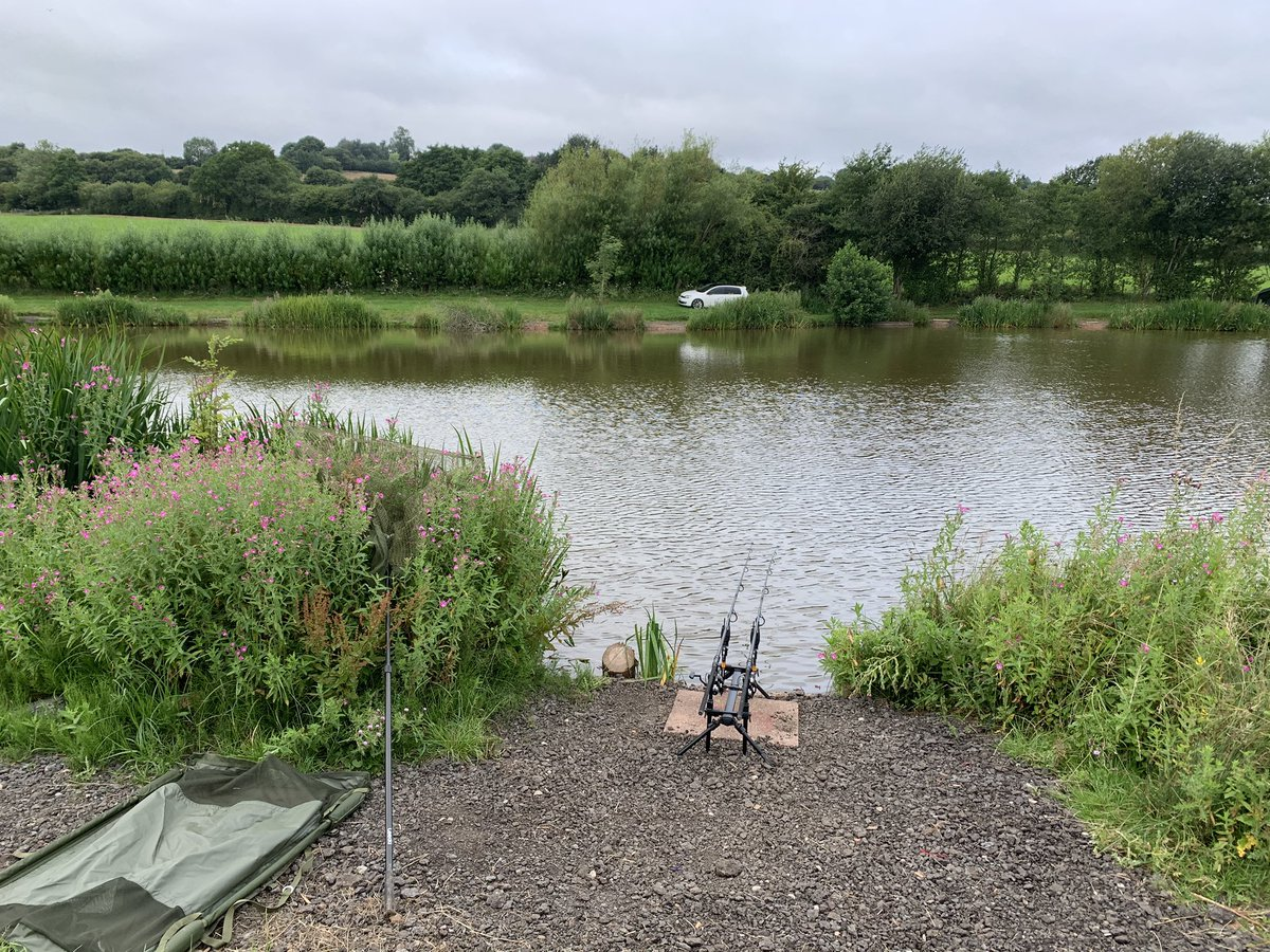 Finally back on the bank its been a long 4 <b>Mont</b>hs but we're fishing again! 🎣🎣 #fishin