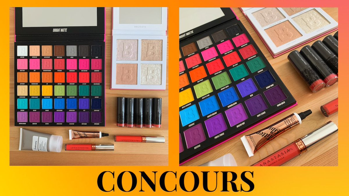 ✨ CONCOURS ✨  À remporter :  - 2 palettes @beautybay  - 7 rouges à lèvres @MakeupRevFrance & @ABHcosmetics  - 1 colle à paillettes @MakeupRevFrance - 1 base The Ordinary  Conditions :  - follow @stilhash  - RT   Bonus :  - follow beautyanouck_ sur instagram   Fin : 26.07 🤞🏻✨🍀