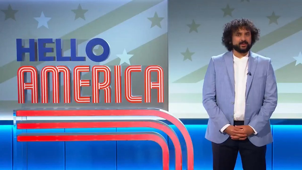 Today's episode of #HelloAmerica: @MrNishKumar is joined by @RachelParris who has a somewhat unconventional idea: Make Trump King. Crazy or genius? Hear her out.    Catch new episodes every Monday and Friday.