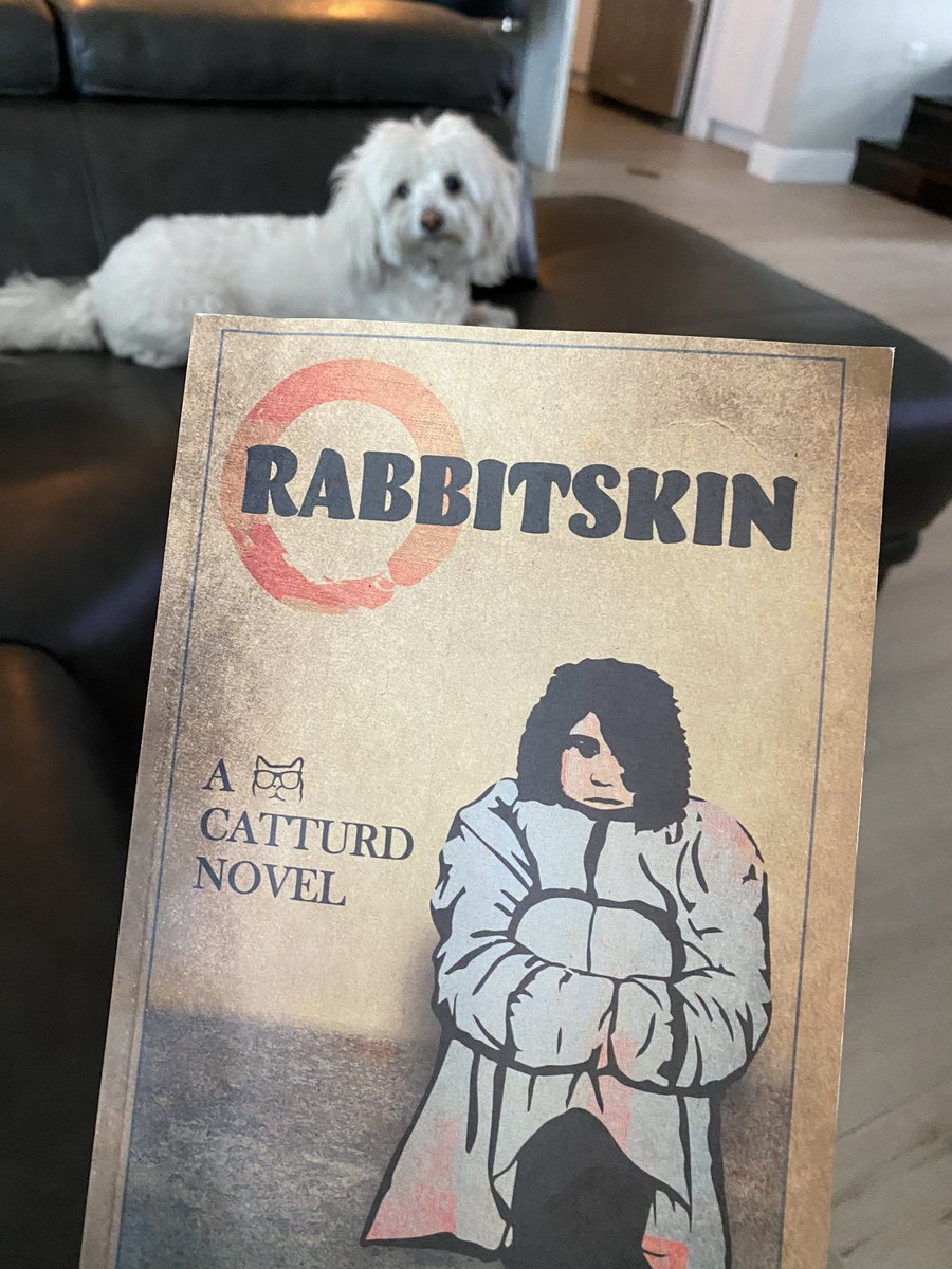 1/ I just finished reading Rabbitskin to my dog.  We loved it! From the first page until the very last, I couldn't put the book down.  We escaped the Coronavirus and went on an adventure to the land of the Carnavorines.   Catturds description of all the animals and geography