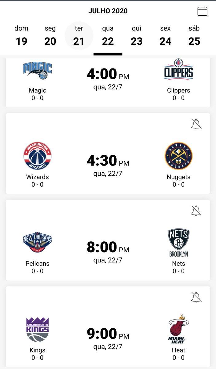 Deprimido com a quarentena? Pré-temporada da @NBA na bolha da Flórida começa amanhã. #prontoinformei