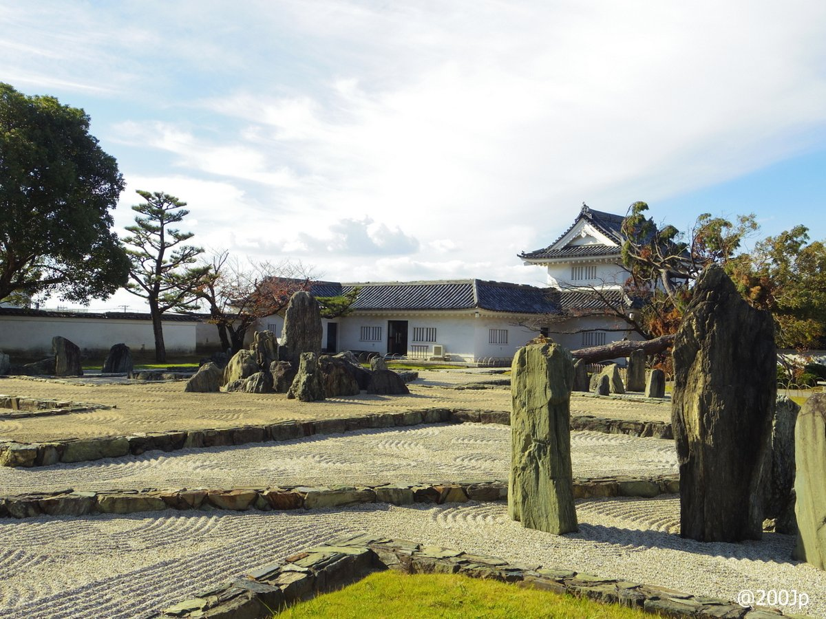 No.161 Kishiwada-jo #castle Hachijin-no-Niwa Garden designed by Mirei Ishimori 八陣の庭 重森三怜作  #kishiwada