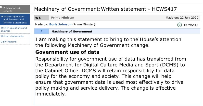 Dominic Cummings has just taken charge of all government data. What could possibly go wrong?
