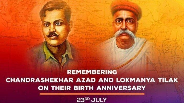#BalGangadharTilak & #ChandrashekharAzad The legendary and revolutionary faces of Indian Freedom Struggle. Our heartfelt obeisances on their Birth Anniversary   #चंद्रशेखर_आज़ाद जी एवं #बाल_गंगाधर_तिलक जी के जन्मोत्सव पर शत शत  चरणवन्दन