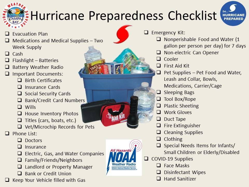 Creating your #DisasterKit doesn't have to be complicated. Check out this Hurricane Prep Checklist from the @NWSTampaBay office that you can use to keep you and your family #prepared