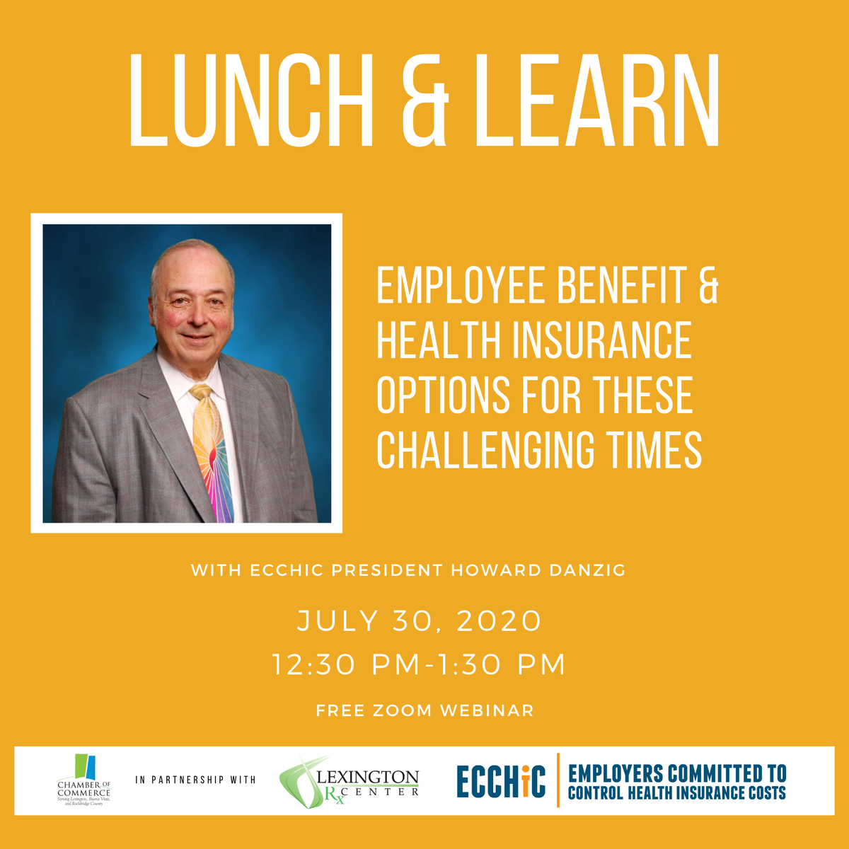 #ChamberEvent You are invited to join us for a webinar with Lexington Prescription Center and The Ecchic Group to learn how employers of all types are avoiding year to year health insurance cost increases without cutting employee benefits.  REGISTER: