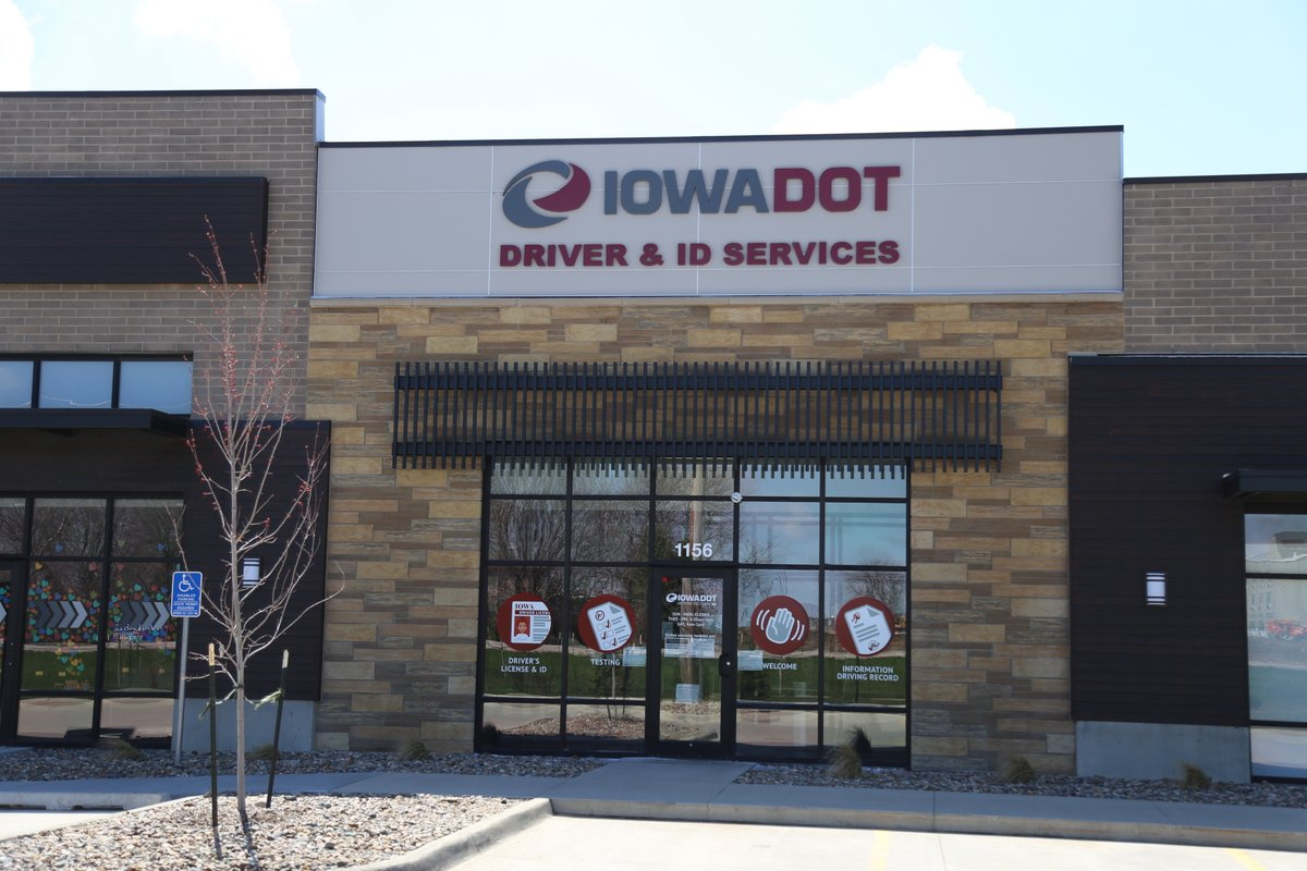 As a reminder the @iowadot's Waukee Driver's License Station is located at 1156 SE Ashworth Road (just east of Grand Prairie Parkway). The location is only serving customers by appointment.  Learn more and schedule your appointment: