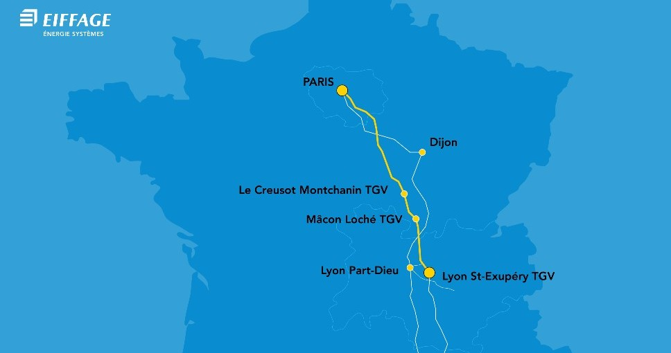 Eiffage remporte, en groupement avec Saferail et Systra, un contrat  dans le cadre de la signalisation du projet pilote de haute-performance de la ligne à grande vitesse Paris-Lyon pour un montant de 52,5 millions d'euros. ▶️ Lire le communiqué