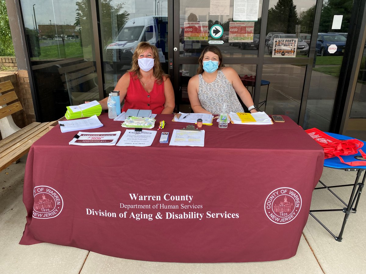 Distribution of farm market vouchers for seniors continues until 2pm today in front of Warren County's Wayne Dumont Jr. Administration Building. Sharon Green and Samantha Volk of the county Division of Aging & Disability Services are ready to provide vouchers to eligible seniors.