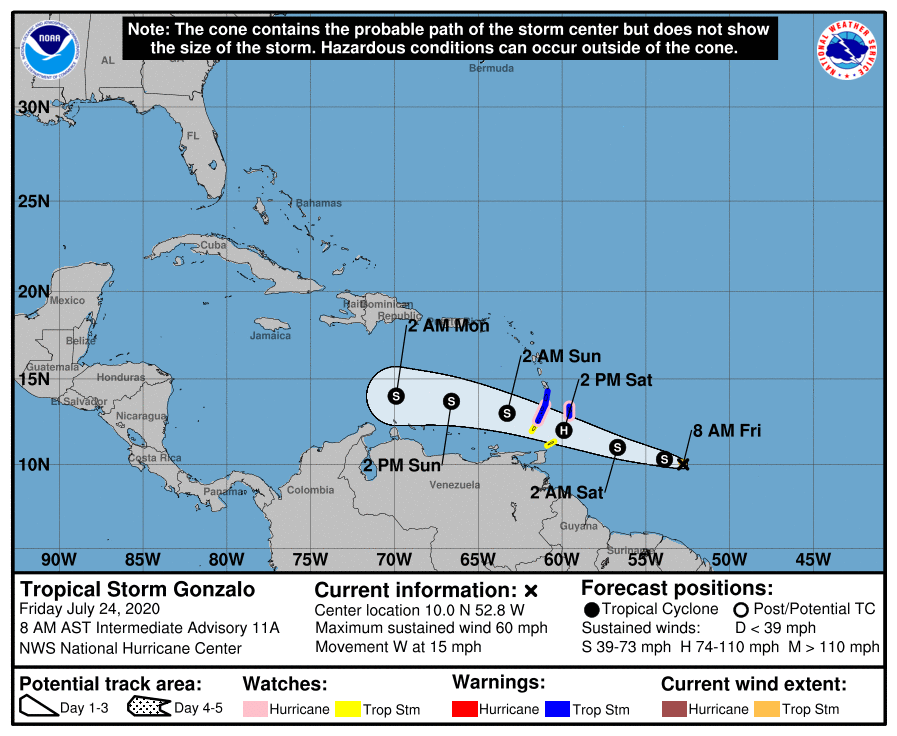 Currently #Gonzalo doesn't appear to be a threat to Florida, but we need to keep our eye on the Atlantic as we have 2 Tropical Storms, and more activity coming off the African Coast. The #COVID19 pandemic makes it even more important to be #prepared early.