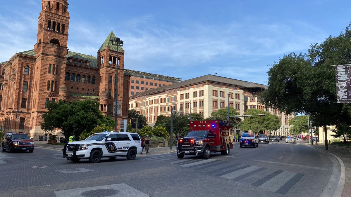 This morning, the funeral procession for Kyle Coleman, Bexar County's Office of Emergency Management Coordinator, passed along the Bexar County Courthouse, as county employees, first responders and colleagues paid their final respects. He will be missed.