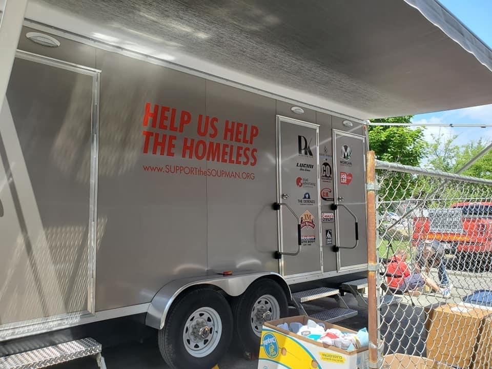 #HeyBangor Portable showers for the homeless are available outside the Union St Brick Church. They were donated by Peter Kelleher, whose organization, Support the Soupman, provides food, supplies, and other necessities to those in need. FMI, please contact the Brick Church.