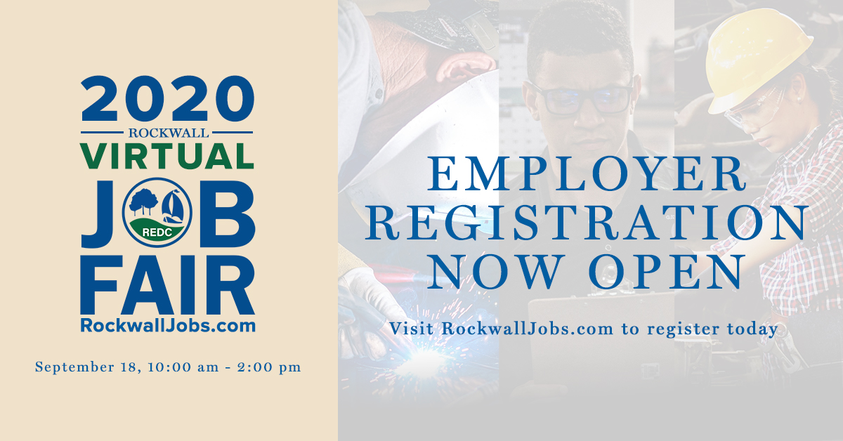 To do our part in protecting the health and safety of our partners during this pandemic, we have taken our annual Rockwall Job Fair online and employer registration is now open. For more information and to register now, visit . #RockwallJobFair