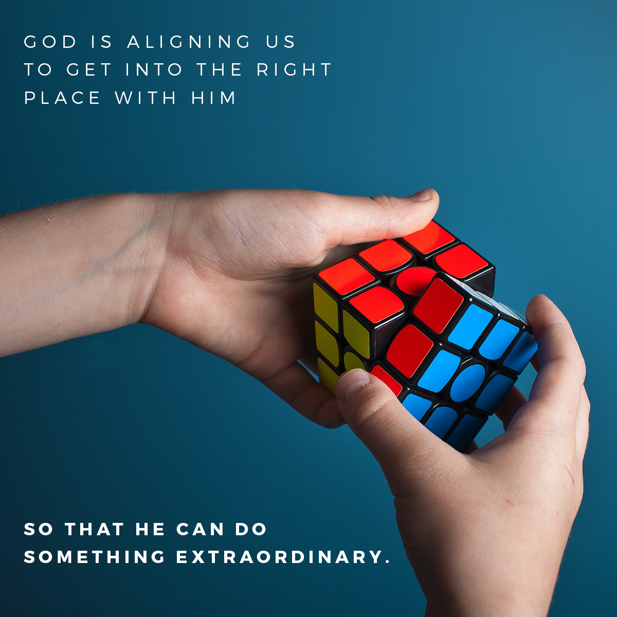 Do you believe #God has a bigger plan? It may seem like your life is in pieces – but He's got it under control. He's bringing it together to create something wonderful. #FaithFriday