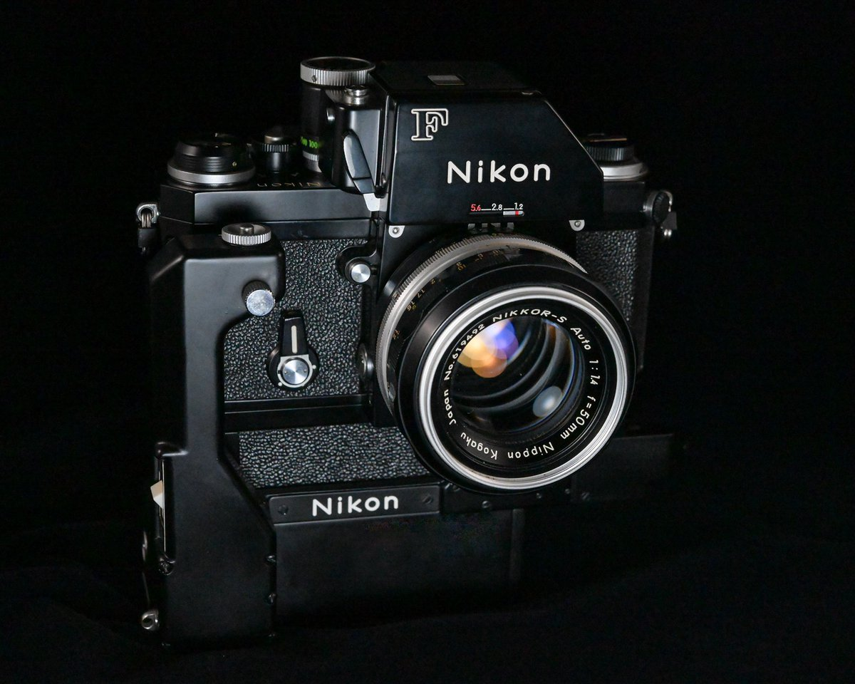 Nikon F アイレベルも良いけど、フォトミックFTNファインダー付きも格好良いと思う。 #Nikon #NikonF
