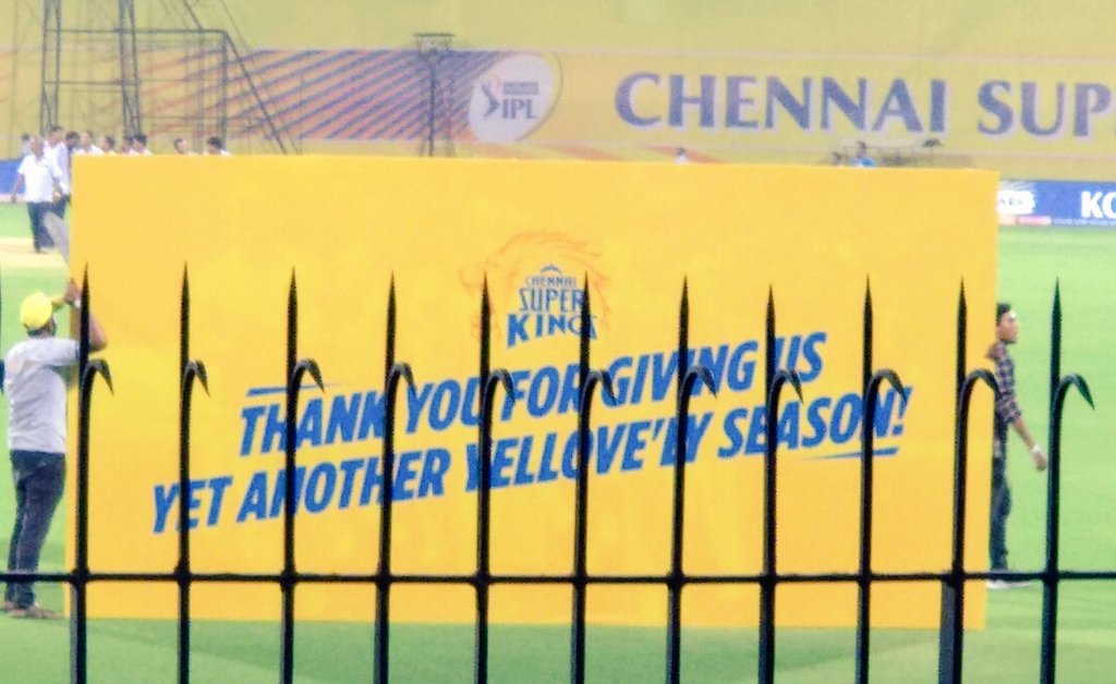 Last year's CSKvDC match was my most favourite(we won by whooping 80 runs🥳)  Reminiscing the chants n electrifying atmosphere, still gives me goosebumps⚡ Most memorable part was Thala n team  came around n showered us with yellovely gifts💛 @ChennaiIPL  I💛U #MyYelloveMemories
